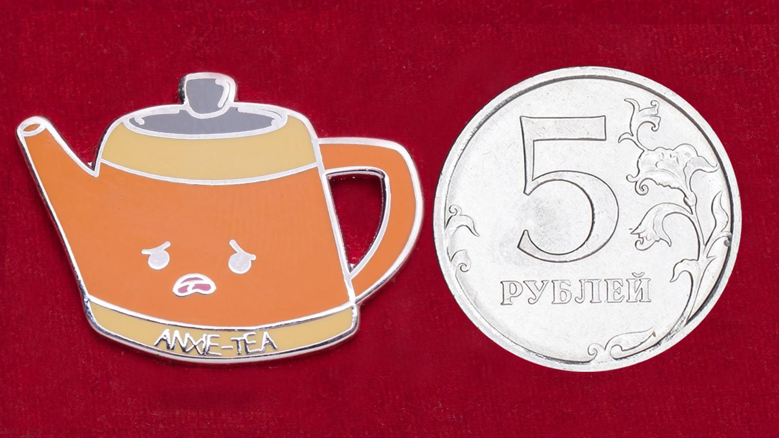 """Дизайнерский значок """"Узбагаивающий чай"""""""