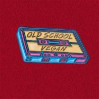 """Дизайнерский значок в виде MC-кассеты """"Веган старой школы"""" от Vegan Power"""