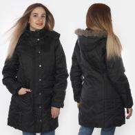 Длинная черная женская куртка ESMARA® (Германия).