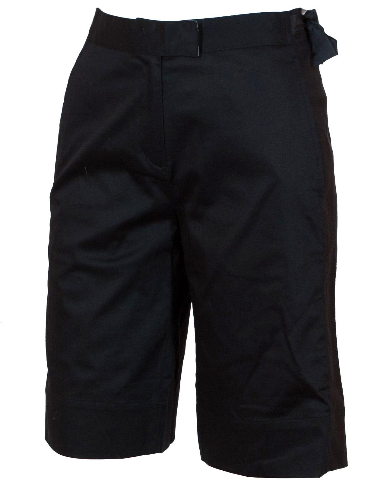 Купить длинные женские шорты черного цвета