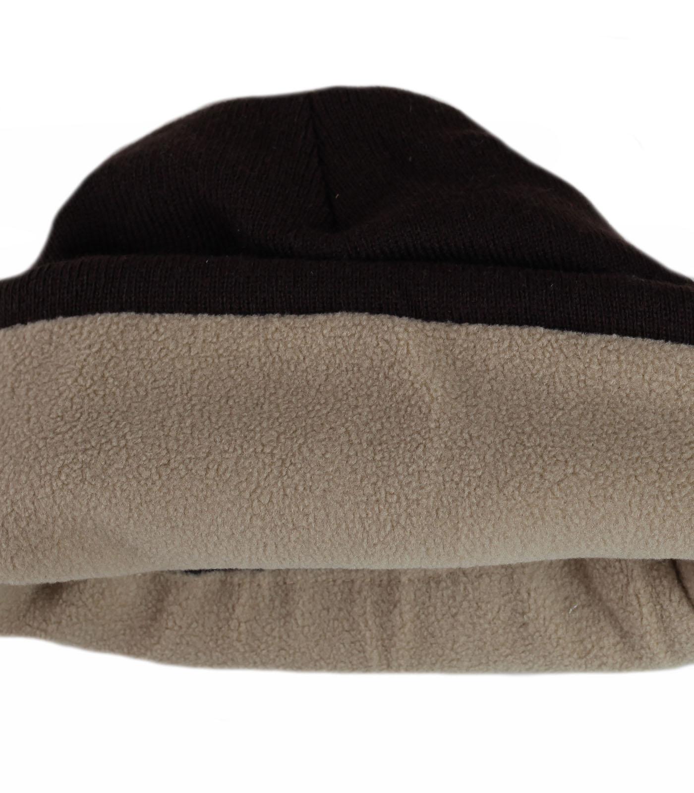 Заказать для крутых мужиков шапку благородного цвета шоколад с лаконичным декором по низкой цене