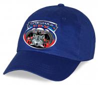 Синяя кепка с авторским принтом «Спецназ ГРУ Волкодав»