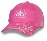 Летняя женская бейсболка розового цвета