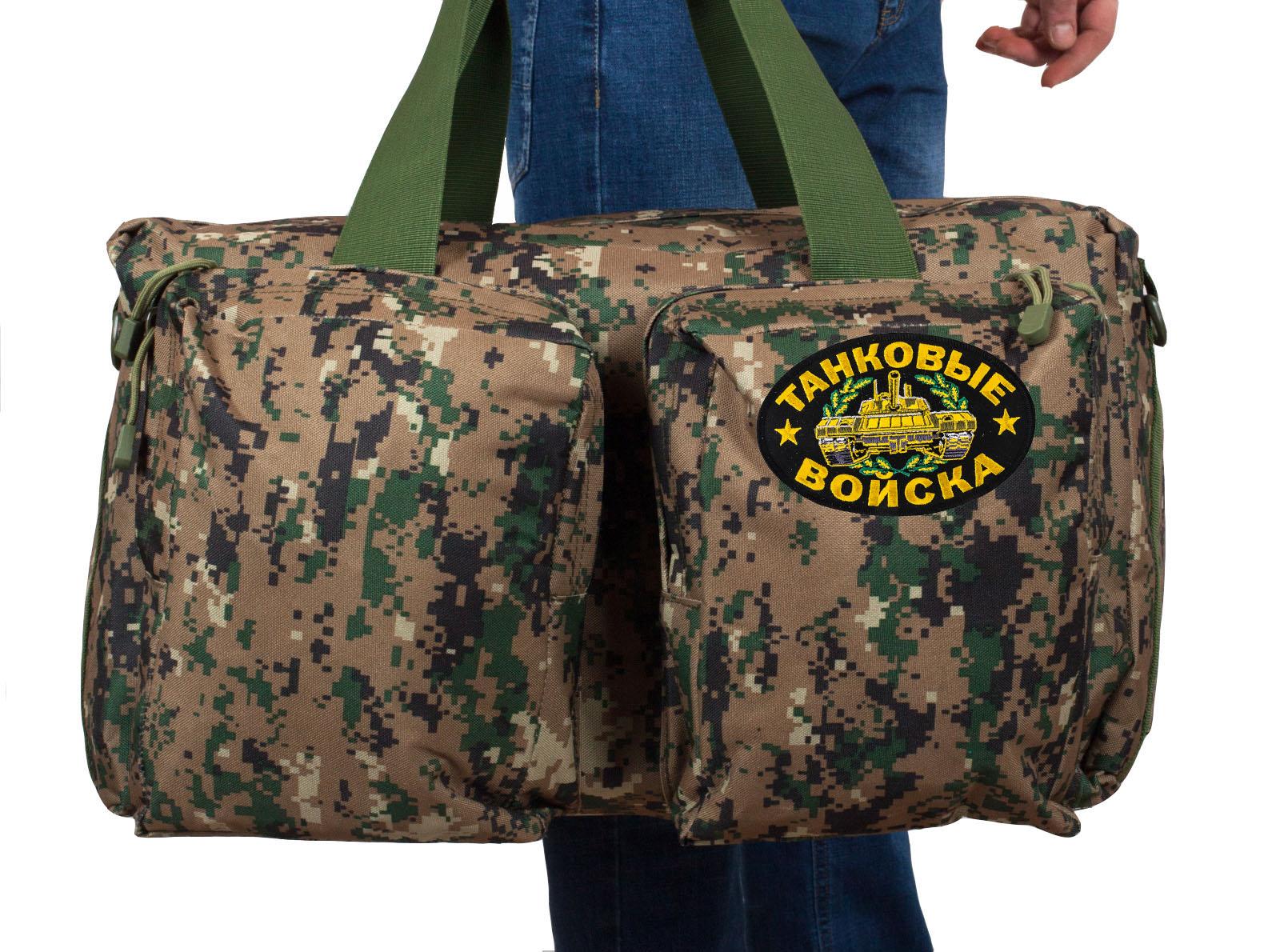 Дорожная армейская сумка с нашивкой Танковые Войска - купить онлайн