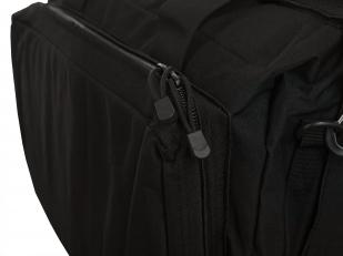 Дорожная черная сумка-рюкзак с нашивкой Русская Охота - заказать с доставкой