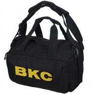Дорожная черная сумка-рюкзак с нашивкой ВКС