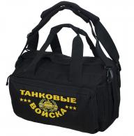 Дорожная черная сумка-рюкзак Танковые Войска