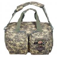 Дорожная камуфляжная сумка-рюкзак с эмблемой Охотничьих войск