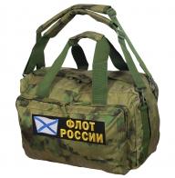 Дорожная камуфляжная сумка с нашивкой Флот России