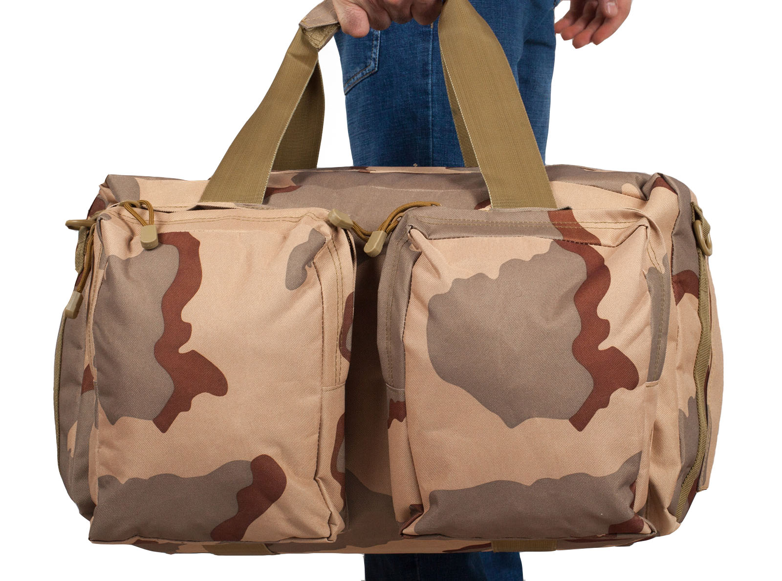 Дорожная камуфляжная сумка с нашивкой ПС
