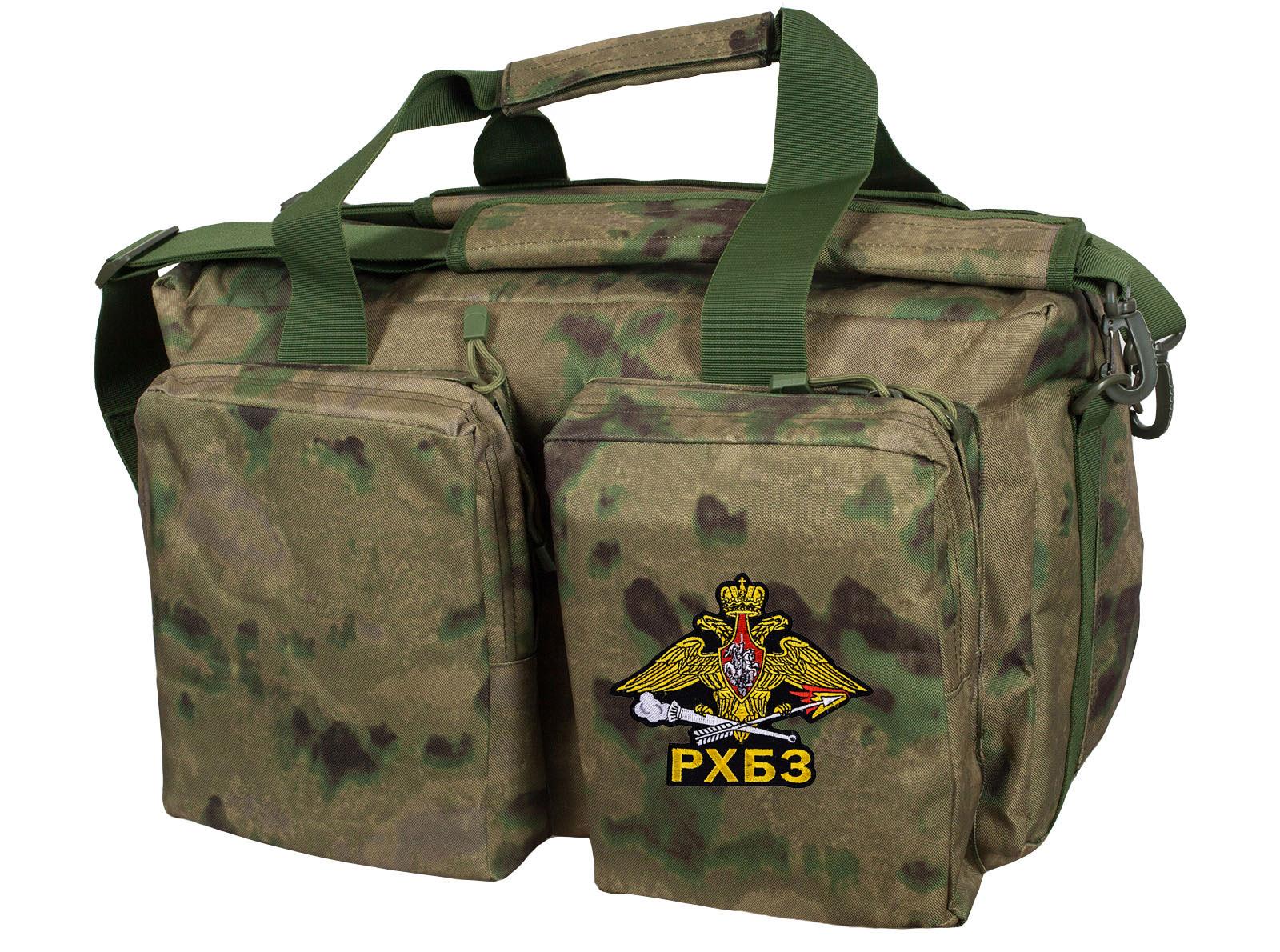 Дорожная камуфляжная сумка с символикой РХБЗ