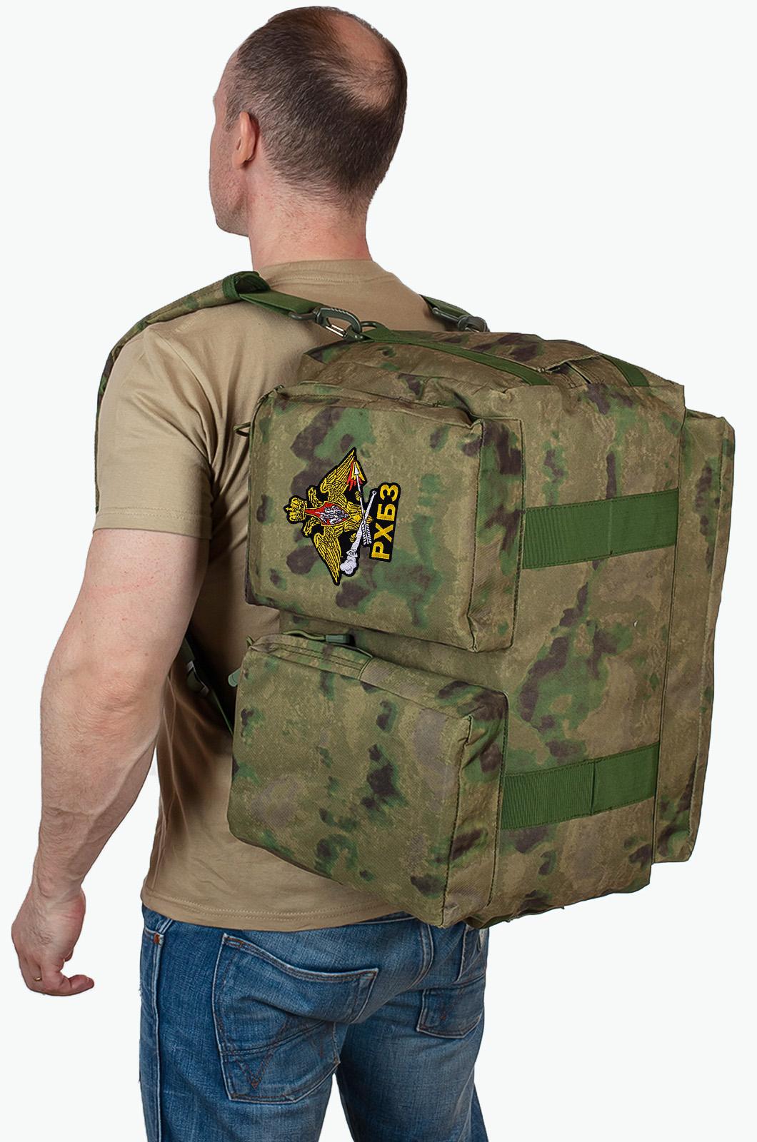 Дорожная камуфляжная сумка с символикой РХБЗ купить в розницу