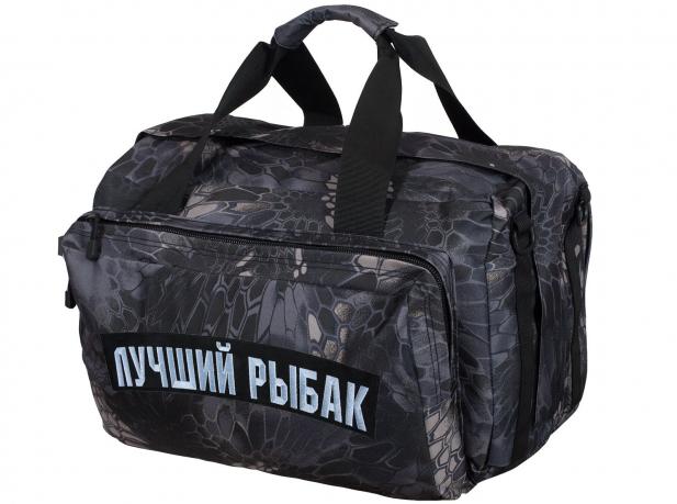 Дорожная мужская сумка с нашивкой Лучший Рыбак - купить онлапйн