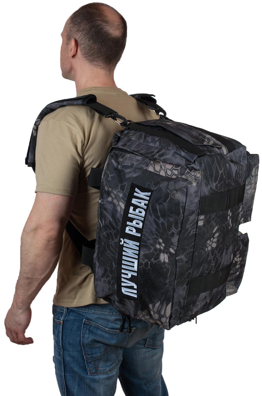 Купить дорожную мужскую сумку с нашивкой Лучший Рыбак по лучшей цене