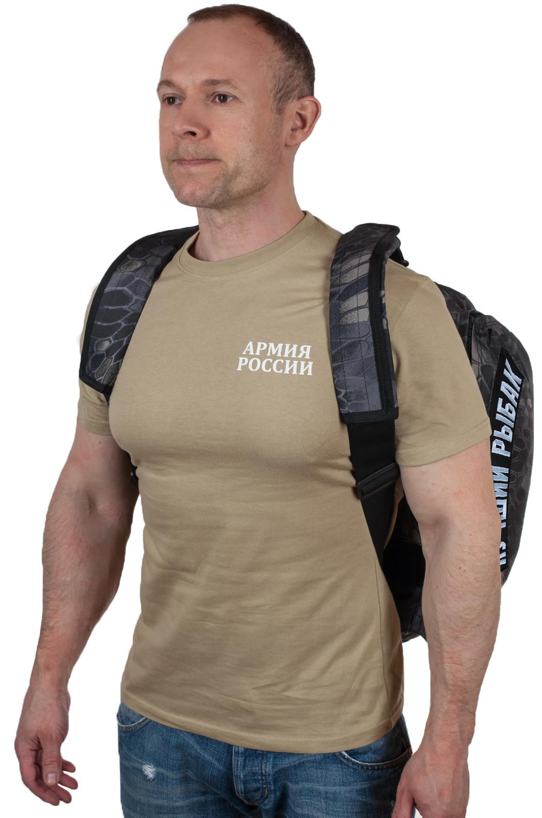 Дорожная мужская сумка с нашивкой Лучший Рыбак - купить с доставкой
