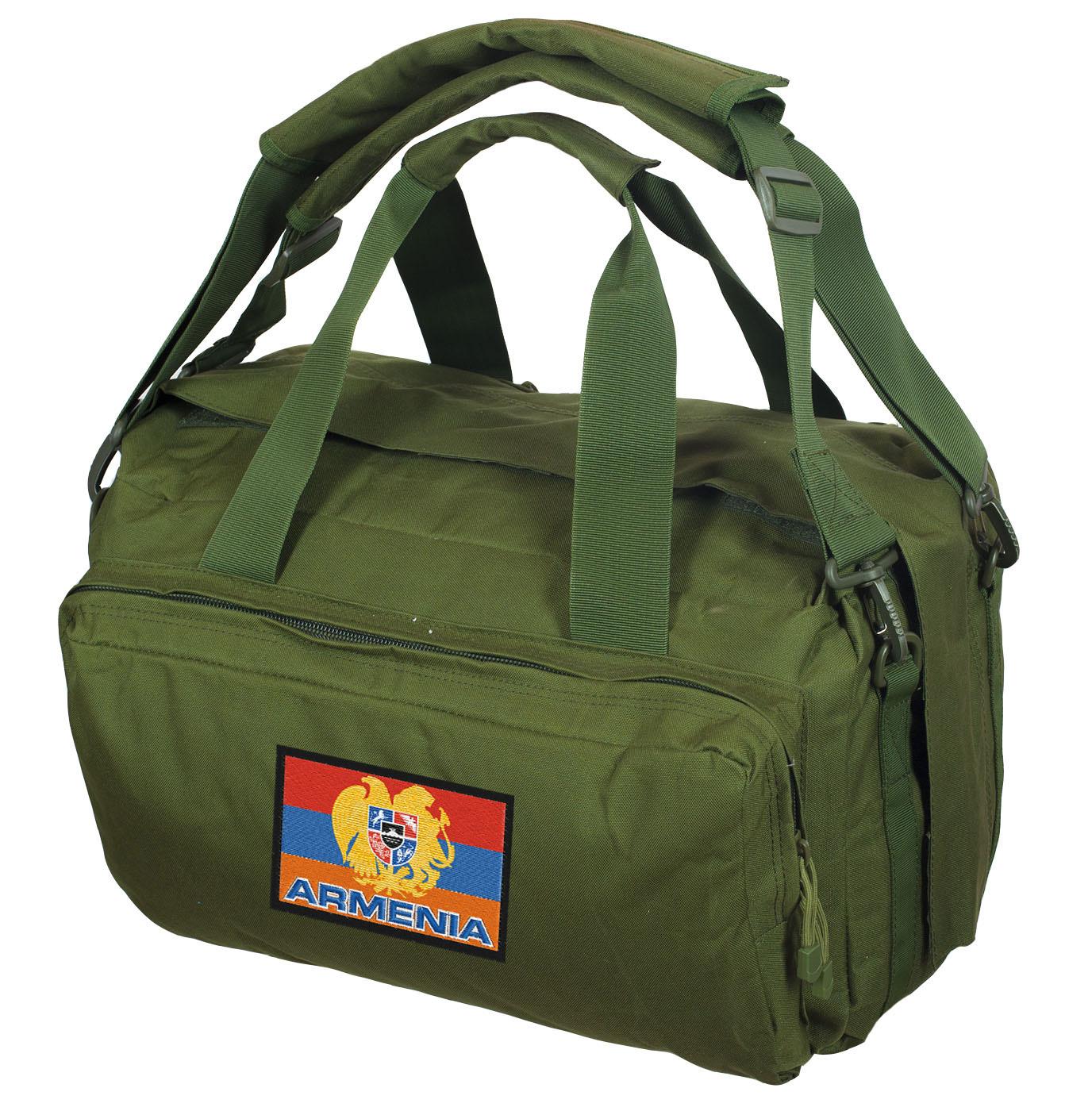 Дорожная сумка-рюкзак с нашивкой в виде армянского флага