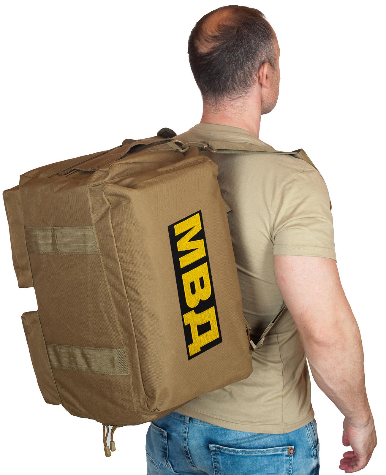 Купить дорожную мужскую сумку-рюкзак с нашивкой МВД по специальной цене