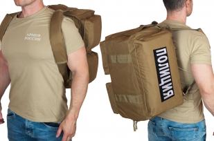 Дорожная сумка-рюкзак с нашивкой Полиция