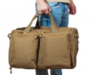 Дорожная сумка-рюкзак с нашивкой Русская Охота - заказать онлайн