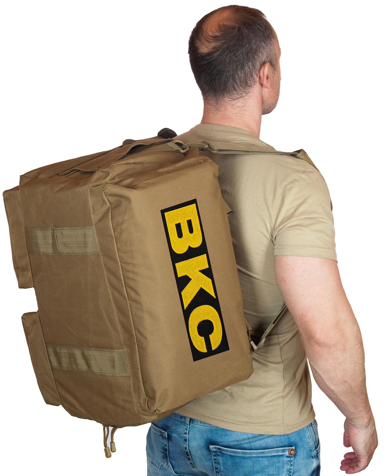 Купить дорожную мужскую сумку-рюкзак с нашивкой ВКС по лучшей цене