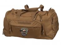 Дорожная сумка с нашивкой Охотничьих войск хаки-песок