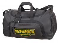 Дорожная темно-серая сумка с нашивкой Погранвойска 08032B