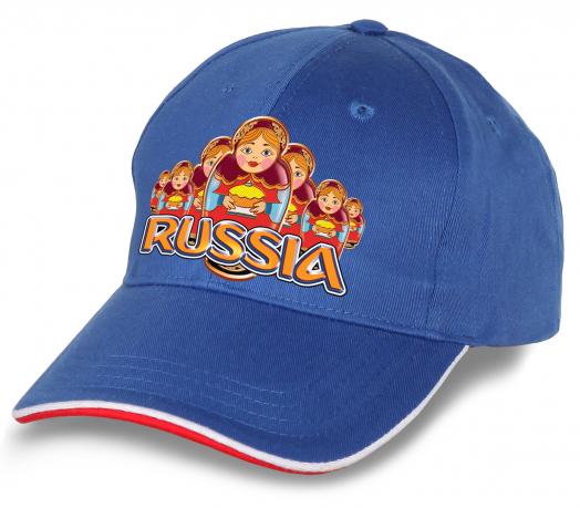 """Достойная бейсболка """"Russia"""" для истинных патриотов! Практичная и модная, хит сезона! Заказывай скорее, количество минимально!"""