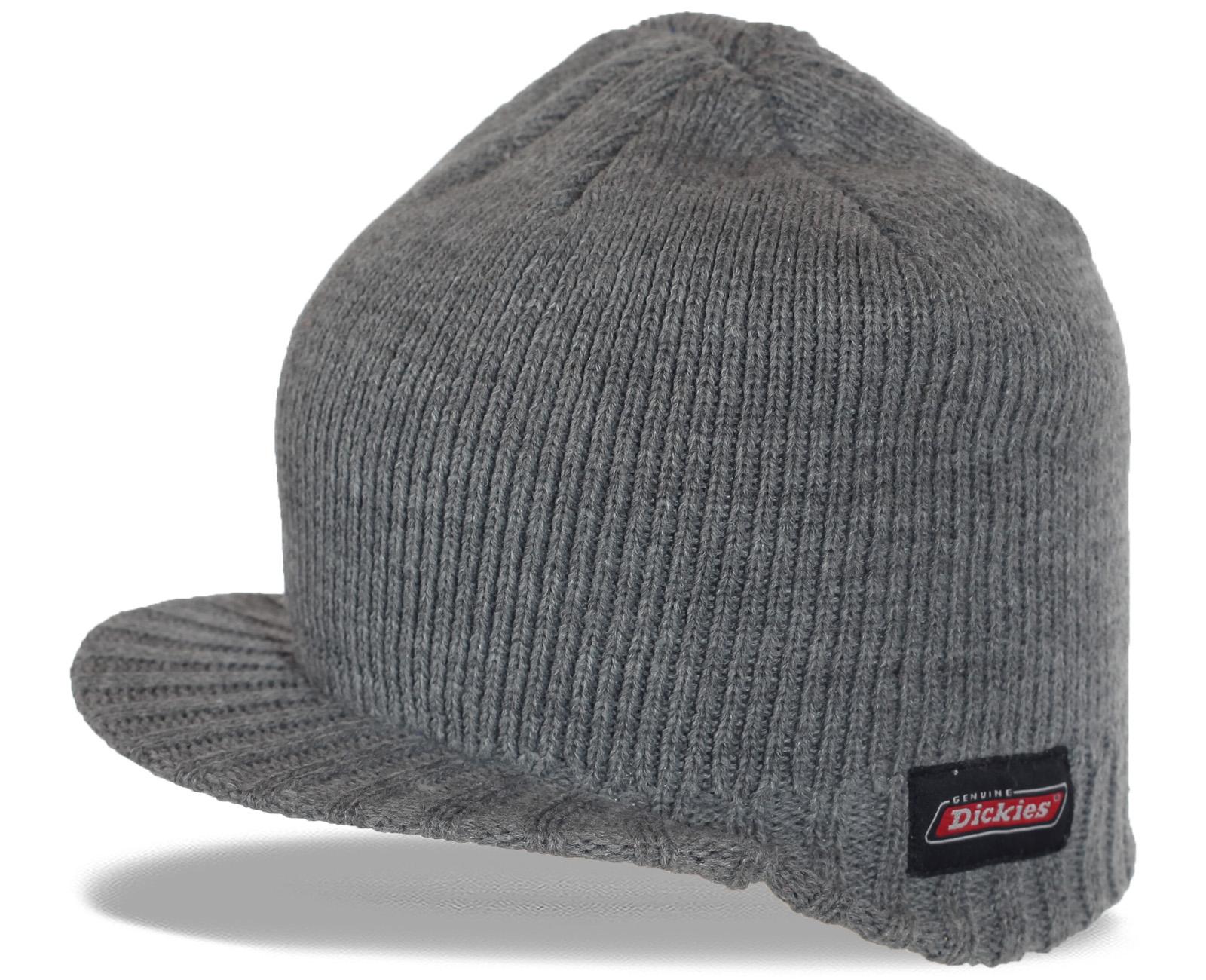 Достойный мужской выбор – трикотажная шапка с козырьком Dickies. Надежность и качество в сочетании с комфортом