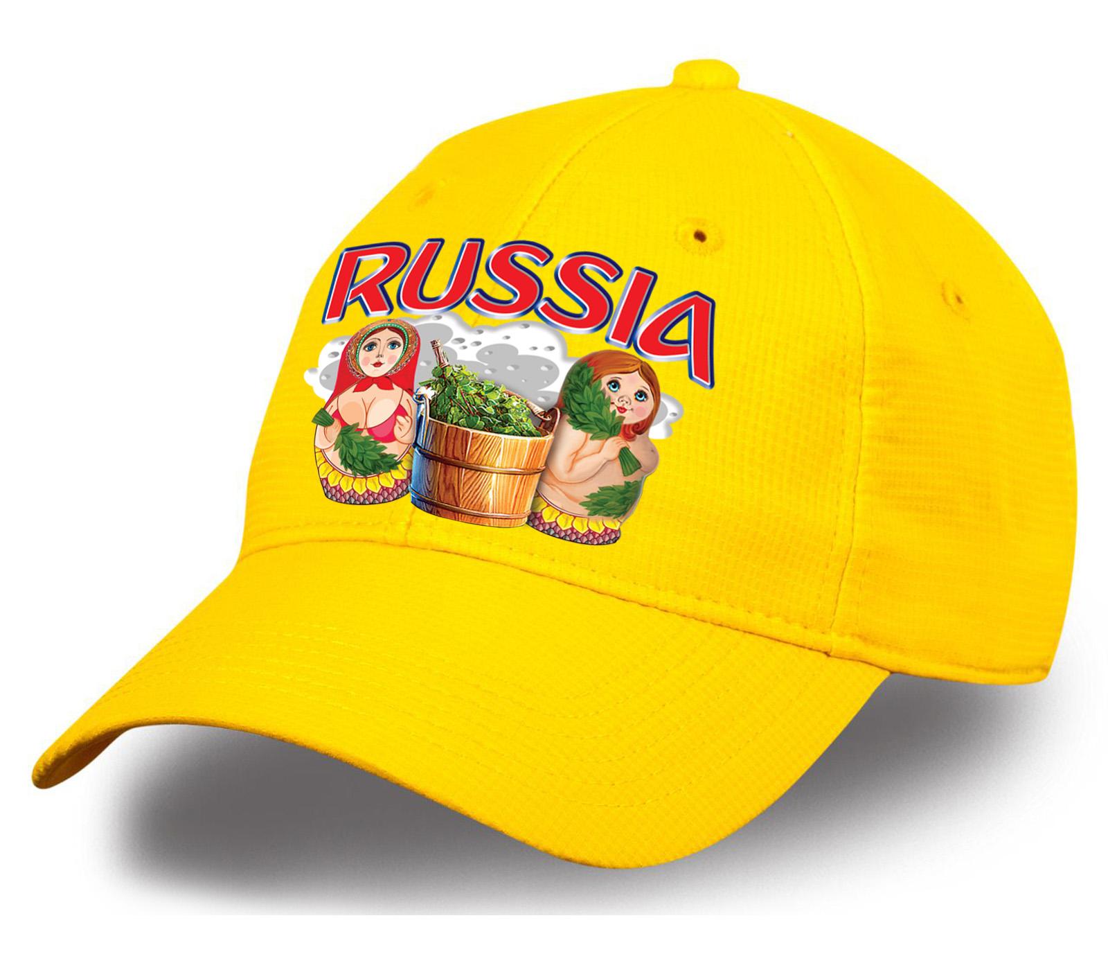 """Достойный подарок по любому поводу - бейсболка """"Russia матрешки"""". Яркий, устойчивый к выгоранию цвет, плотный хлопок. Предложение ограничено, успей заказать!"""