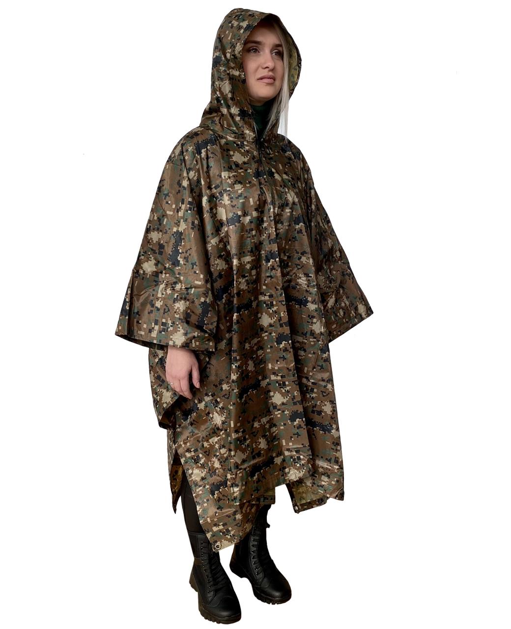Дождевик в камуфляже Digital Camo - выгодно с доставкой
