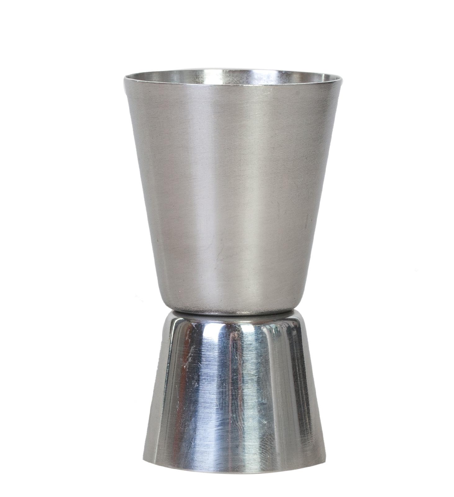 Двойной мерный стаканчик из нержавеющей стали