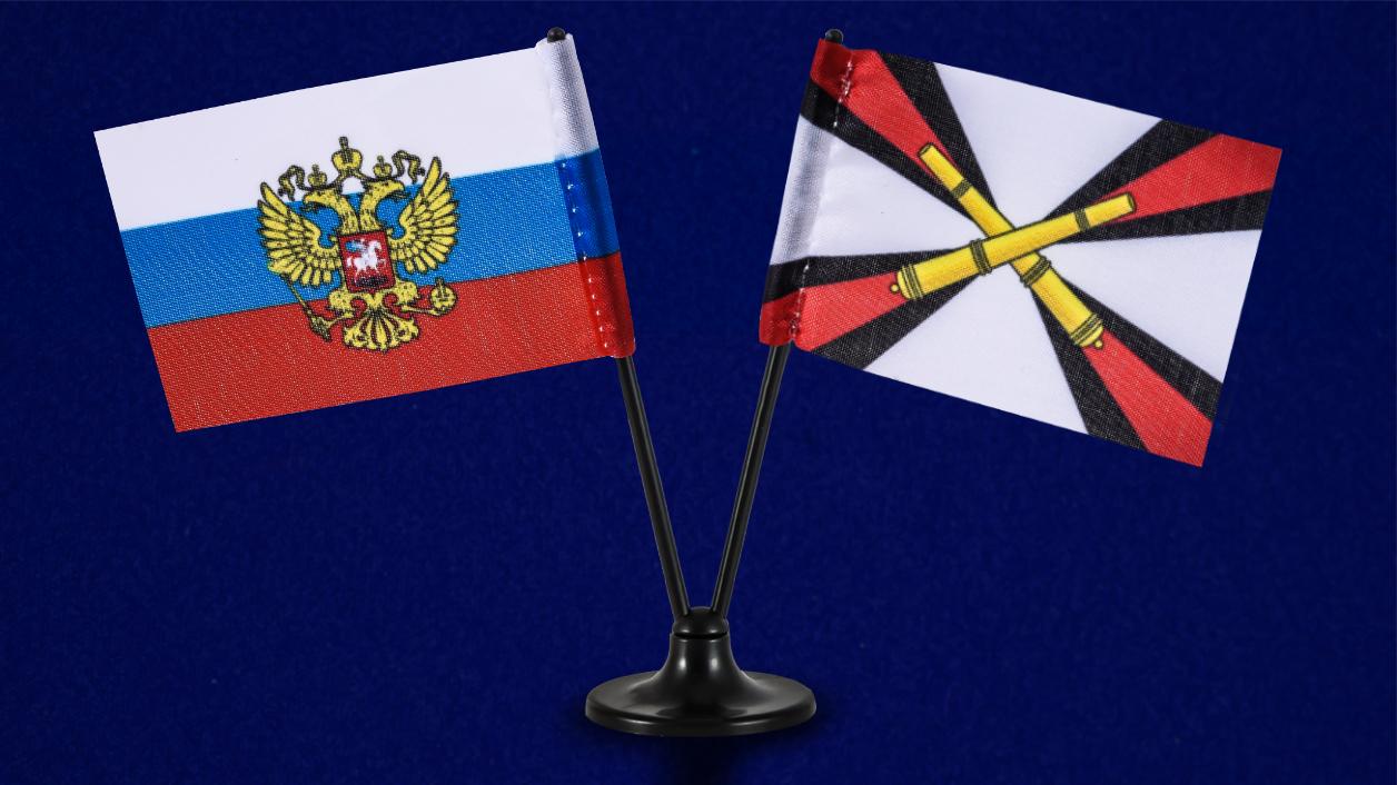 Двойной мини флажок России и РВиА