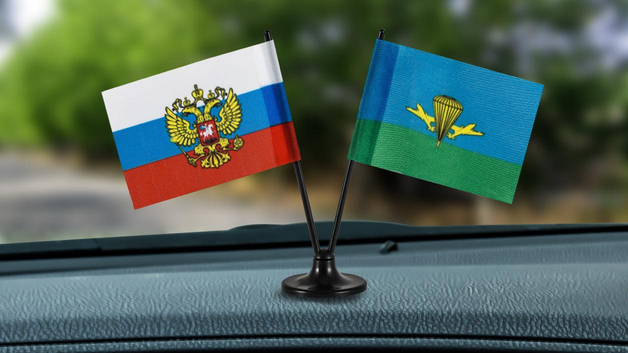 Заказать двойной мини флажок России и ВДВ России