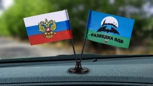 Заказать двойной сувенирный флажок России и Разведки ВДВ