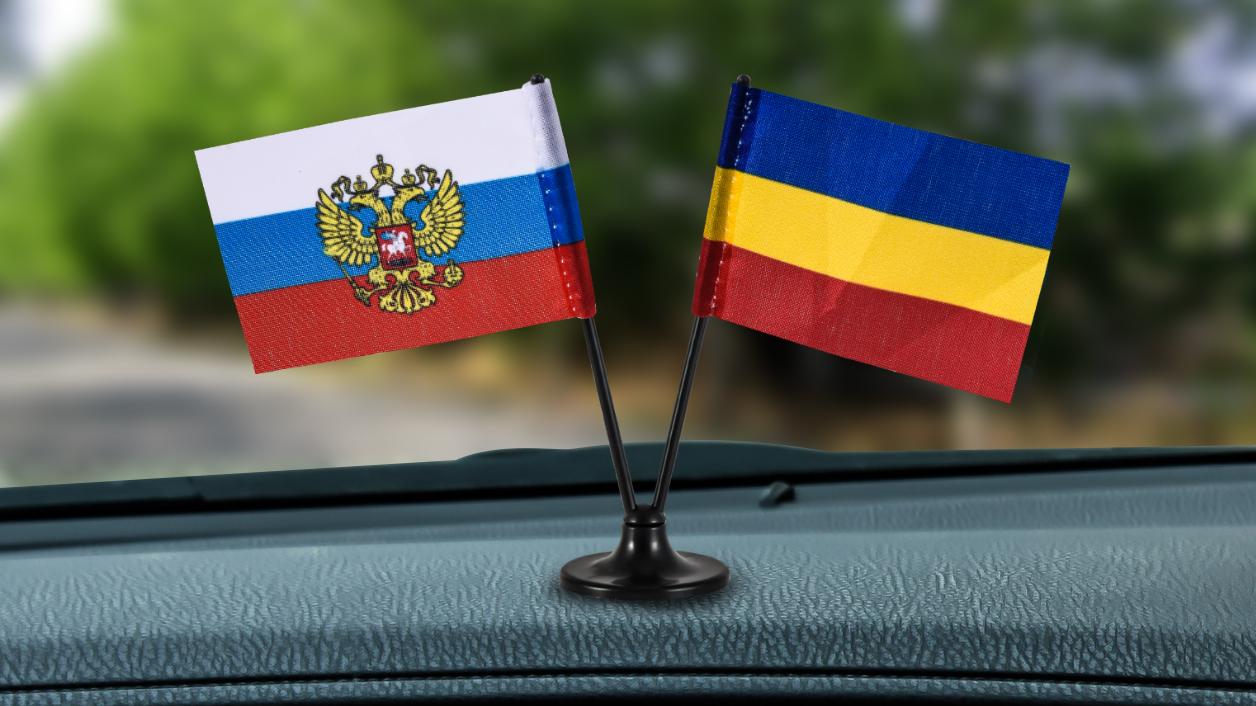 Российский мини флажок с флагом Донских казаков