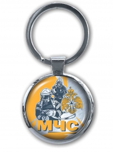 Двухсторонний брелок МЧС для авто ключей от Военпро