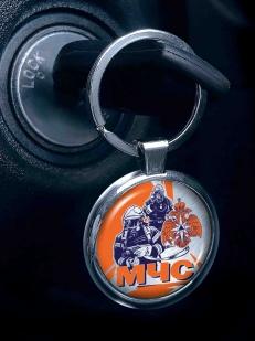 Заказать двухсторонний брелок МЧС для авто ключей