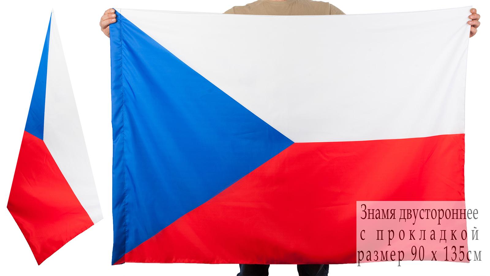 Двухсторонний флаг Чехии