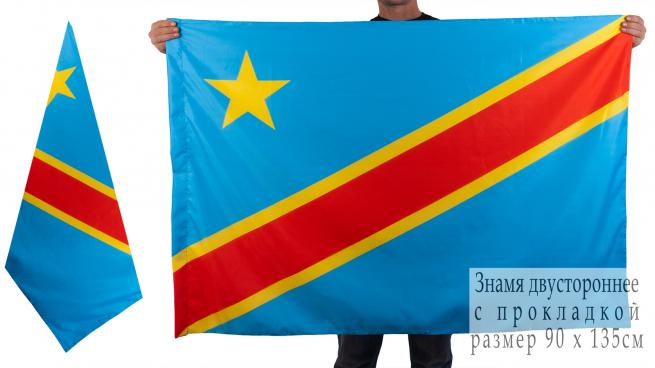 Двухсторонний флаг Демократической Республики Конго