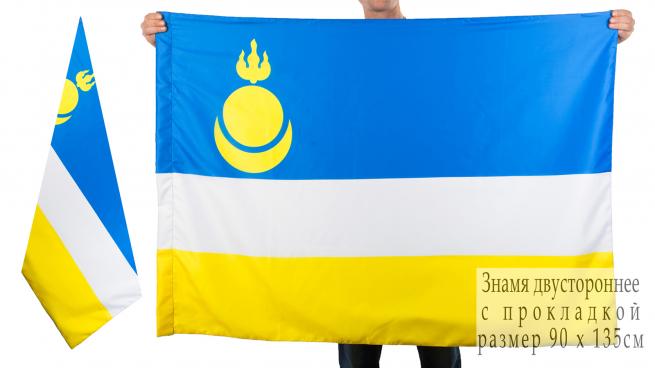 Двухсторонний флаг Республики Бурятия