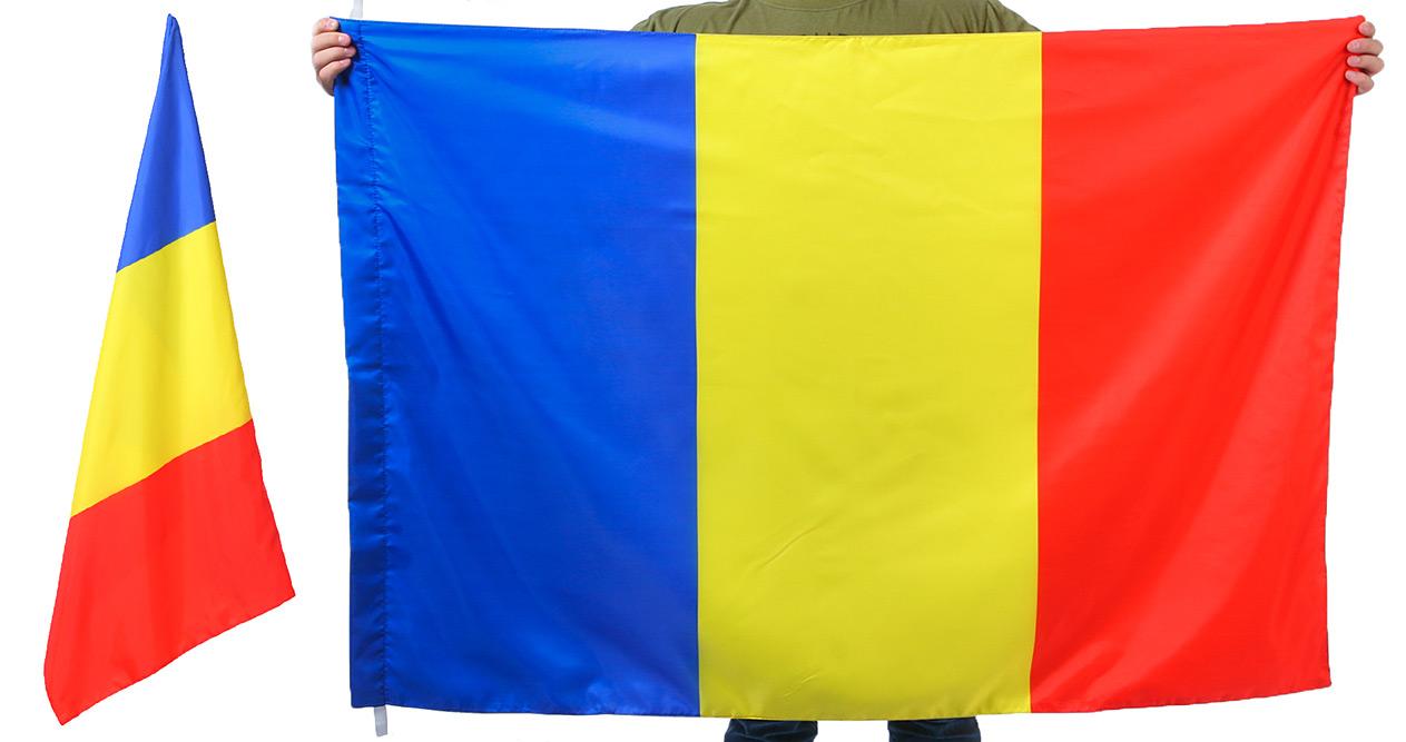 Двухсторонний флаг Румынии