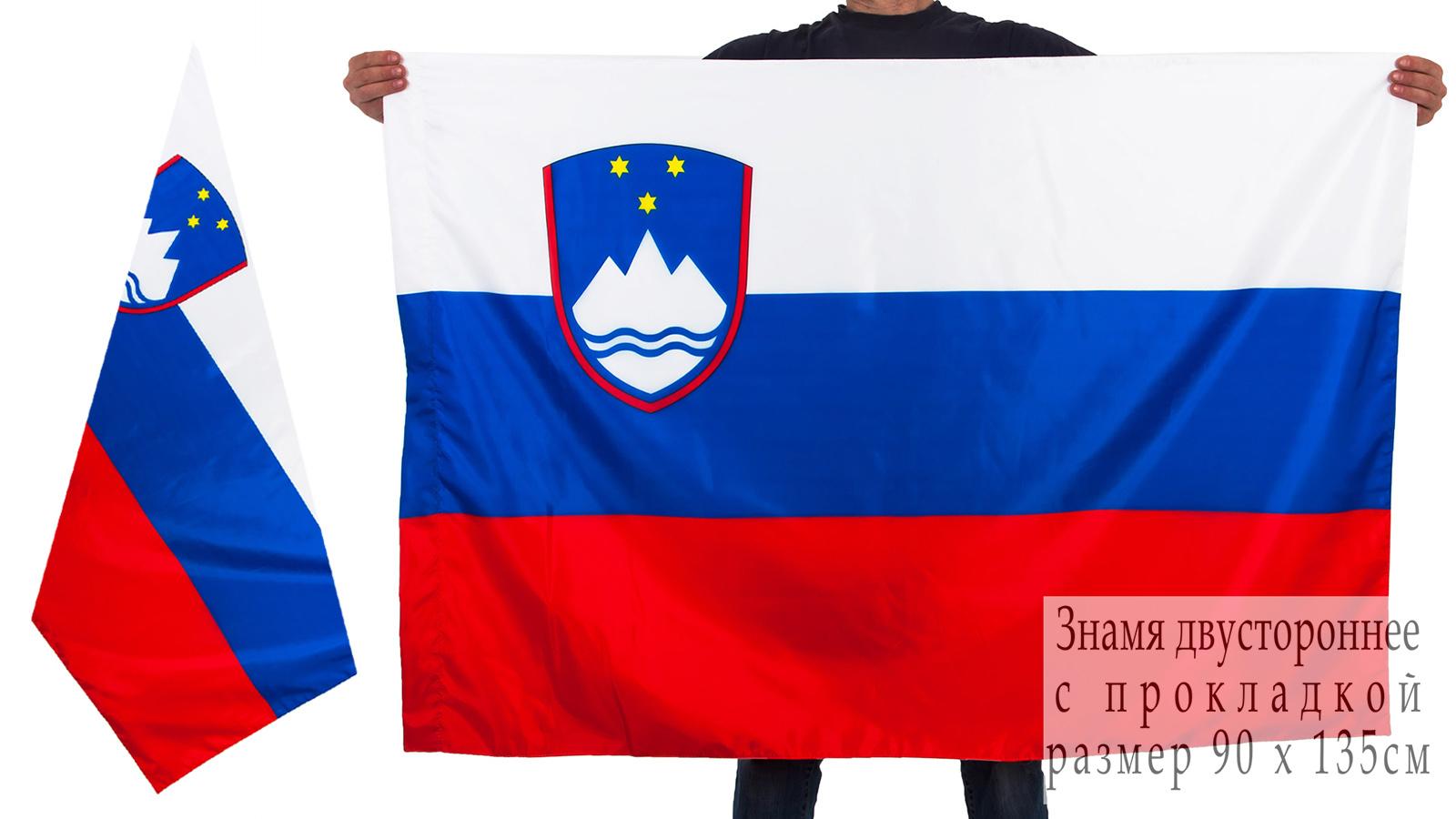 Флаг Словении двусторонний