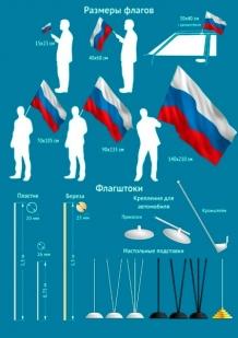 Флаг ТОФ - размеры