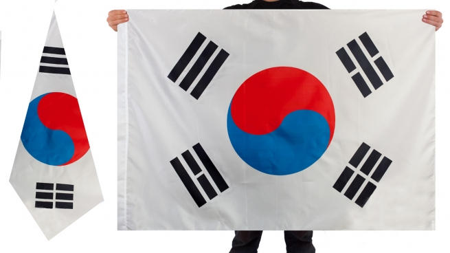 Двухсторонний флаг Южной Кореи
