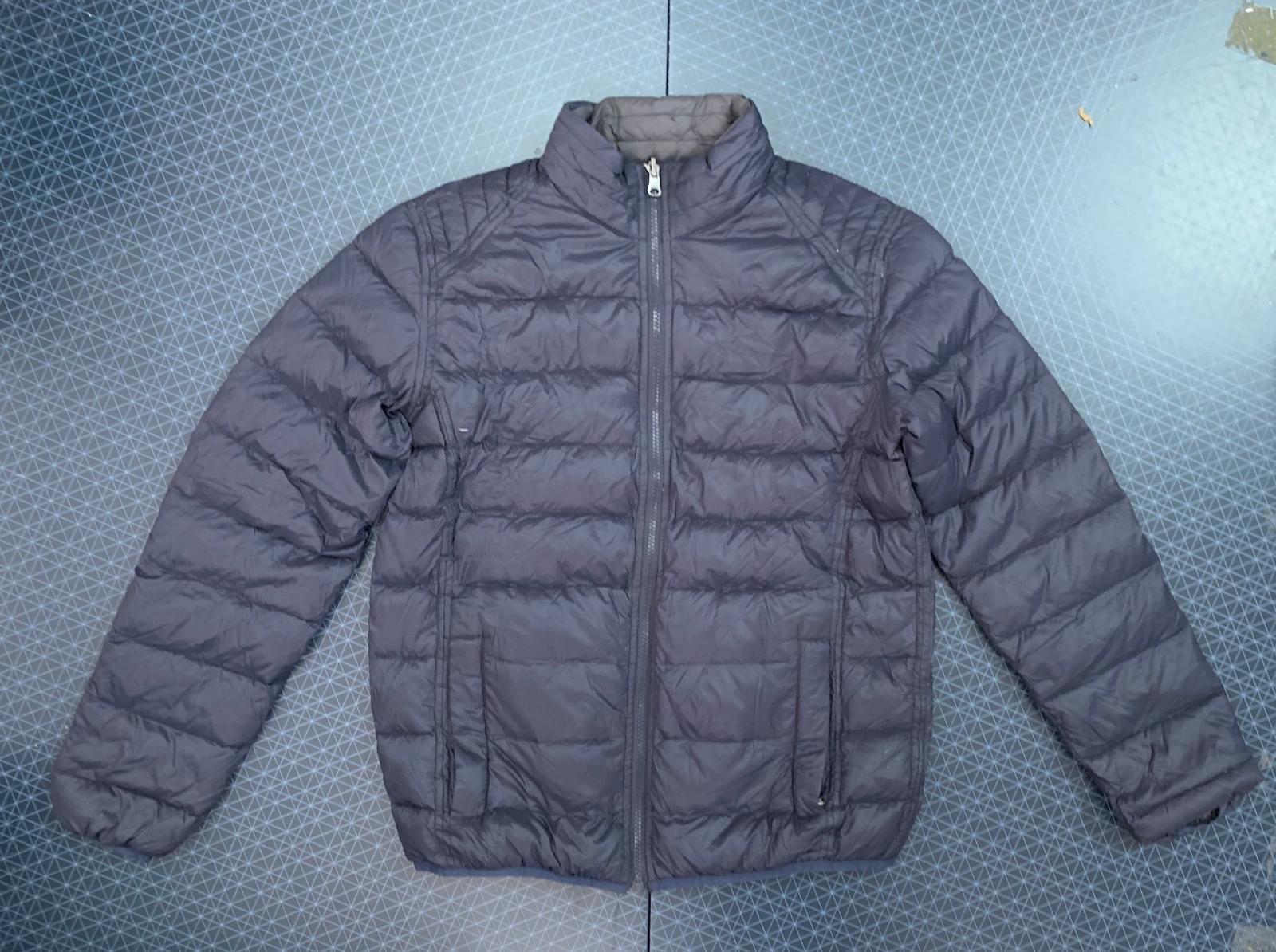 Двухсторонняя мужская куртка синего цвета