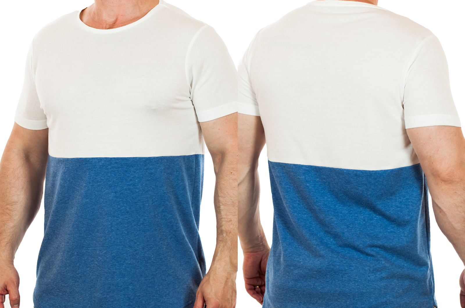 Двухцветная мужская футболка Splash – для любителей женского внимания!