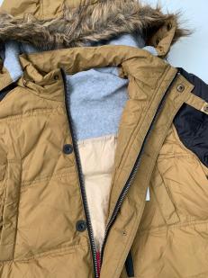 Двухцветная мужская куртка-пуховик