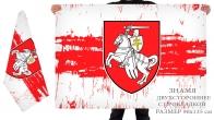 Двусторонний бело-красно-белый флаг Беларуси (стилизованный)
