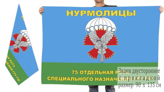 Двусторонний флаг 75 орСпН ГРУ ГШ