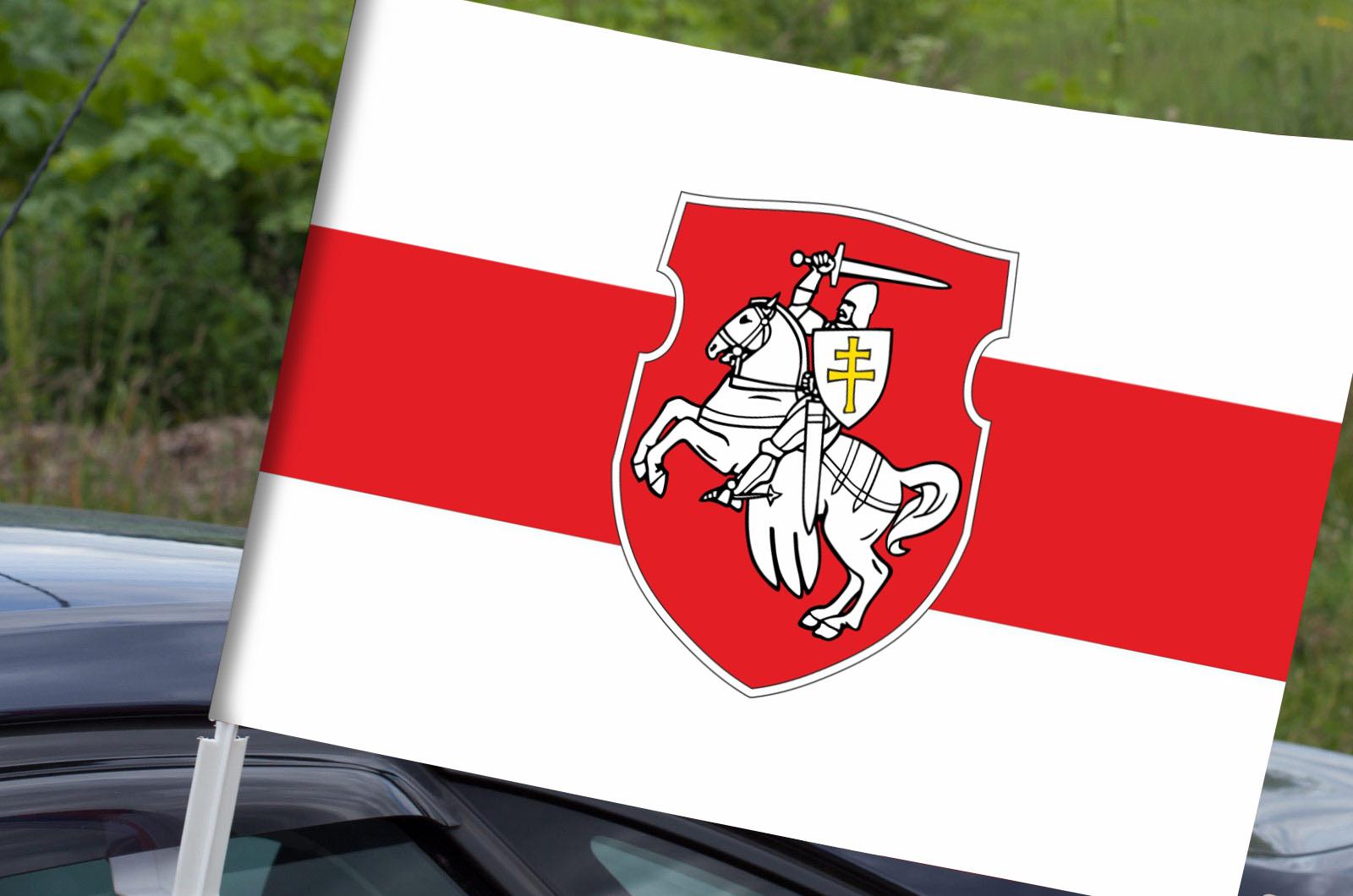 Двусторонний флаг Беларуси с Погоней